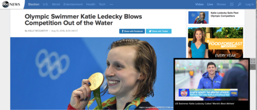 Olympic Swimmer Katie Ledecky Blows Competition Out of the Water